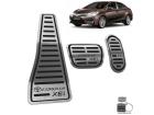 Kit Pedaleira Descanso de Pé Corolla XEI 15/.. Câmbio Automático Preto