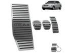 Kit Pedaleira Descanso de Pé Audi A3 4P 96/06 Câmbio Manual Preto