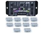 Medidor de Áudio Central AJK Power VU com 20 Faróis RGB 3W