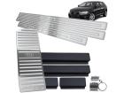 Kit Soleira Descanso de Pé Audi A3 4P 07/12 Alto Relevo Prata