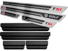 Soleira de Porta Golf T(SI) Aço Inox Alto Relevo Preto + Vinil