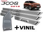 Kit Soleira Descanso de Pé Peugeot 3008 18/.. Baixo Relevo Preto