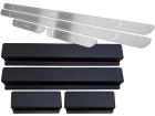 Soleira de Porta Gol G6 G7 4P Aço Inox Baixo Relevo Prata + Vinil
