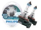 Lâmpada Xtreme Vision H11 Dobro de Iluminação Philips 3400K