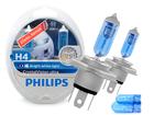 Lâmpada Crystal Vision Ultra H4 Super Branca Philips 4300K + Pingo