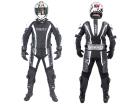 Macacão Motociclista Texx Ghost 2 Peças Cinza com Branco e Preto M - 50