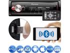 Media Receiver Pioneer MVH-X700BR 1DIN Flashing Light Bluetooth Aux USB Android Iphone 3 Saídas RCA Mixtrax MP3 Player