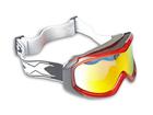 Óculos Motocross Texx Fx-5 Vermelho Transparente com Lente Iridium
