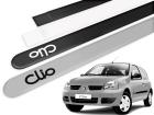 Jogo Friso Lateral Renault Clio 13/16 Ponta Redonda com Grafia - Tiger
