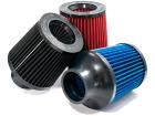 Filtro de Ar Esportivo Cônico Race Chrome VS 2,5 Polegadas Flexível Duplo Fluxo - Azul Preto Vermelho