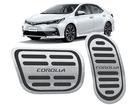 Pedaleira Corolla 2018/.. Automático em Aço Inox - Listrado Preto