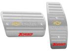 Pedaleira para Chevrolet Cruze Turbo 2017 Automático em Aço Inox - Listrado Prata