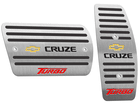 Pedaleira para Chevrolet Cruze Turbo 2017 Automático em Aço Inox - Listrado Preto