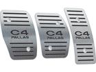 Pedaleira para Citroen C4 Pallas Manual em Aço Inox - Listrado Preto