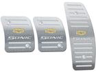 Pedaleira para Chevrolet Sonic Manual em Aço Inox - Listrado Preto