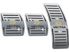 Pedaleira para Chevrolet Vectra 1996/2005 Manual em aço inox - Listrado Preto