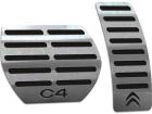 Pedaleira Citroen C4 04/14 Automático Preto Aço Inox - Não fura o pedal
