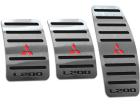 Pedaleira L200 95/05 Manual Aço Inox - Não fura o pedal