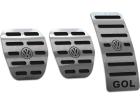 Pedaleira Gol G4 06/13 Manual Aço Inox - Não fura o pedal