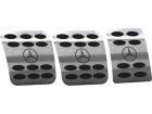 Pedaleiras Mercedes Atron Manual em Aço Inox - Bola Preto