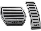 Pedaleira Peugeot 208 Automático Preto