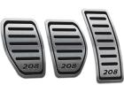 Pedaleira Peugeot 208 Manual Preto