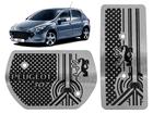 Pedaleira Peugeot 307 Automático em Aço Inox - Detalhes Preto