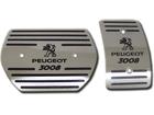 Pedaleira Peugeot 3008 2010/2017 Automático em Aço Inox - Listrado Preto