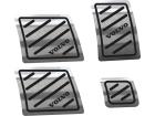 Pedaleiras Volvo Fh Manual em Aço Inox - Listrado Diagonal Preto