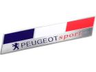 Emblema Badge Peugeot Sport França 13x2,5cm