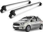 Rack Travessa de Teto para Ford Ka Hatch 2014/.. Projecar Prata