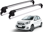 Rack Travessa de Teto para Nissan March Projecar Prata