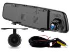 Retrovisor DVR com Câmera Frontal e Traseira