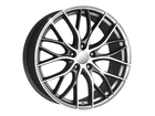 Roda KR R54 Réplica BMW 335 Biturbo Aro 17x7 4x108 Grafite Diamante ET40