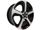 Roda Monacco Audi Q5 MW080 Aro 17 5x100 Preto Semi Brilho Diamantado