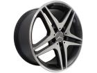 Roda Zeus Mercedes ZM Aro 17 5x112 Grafite Brilhante Diamantado