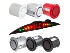 Sensor de Ré Estacionamento 4 Pontos Cor Orig + Display Slim