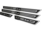 Soleira de Porta Audi A3 4P 96/06 Aço Inox Alto Relevo Preto + Vinil