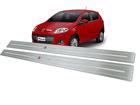 Soleira para Fiat Palio 2012/.. em Aço Inox - Baixo Relevo Prata