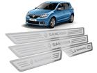Soleira Renault Sandero 2015/.. Alto Relevo Prata