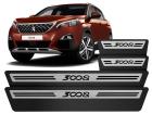 Soleira Premium Peugeot 3008 2018/.. Aço Escovado