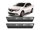 Soleira Premium Renault Novo Logan Aço Escovado