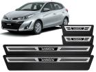 Soleira Premium Aço Escovado 4P Toyota Yaris 2018/..
