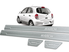 Soleira Standard Nissan March Aço Inox Standard