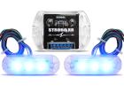 Kit Strobo Azul X8 2 Faróis - À Prova D'água