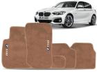 Tapete BMW 118i 11/.. 5 pçs Bege Carpete Bordado Ecotap