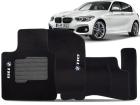 Tapete Carpete BMW 118 2011/.. Preto 05 Peças Grafia Bordada Lavável Antiodor Antichamas