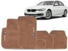Tapete Carpete BMW 320 2012/.. Bege 5 Peças