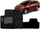 Tapete Carpete Honda CR-V 2012/.. Preto 05 Peças Grafia Bordada Lavável Antiodor Antichamas