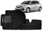 Tapete Etios 10/.. Hatch / Sedan 5 pçs Preto Carpete Bordado Ecotap